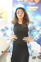 Actress Tejaswi Madivada Stills in Balck Long Dress at Babu Baga Busy Movie Interview  0016.jpg