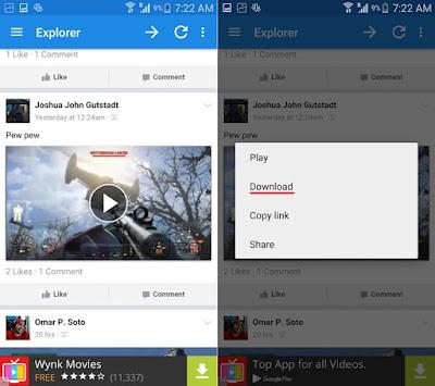 Cara Download Video Facebook di HP Android