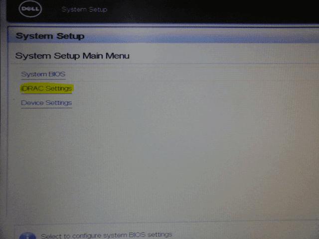 System Setup Dell