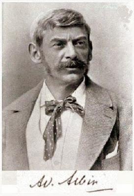 Foto y firma de Adolf Albin