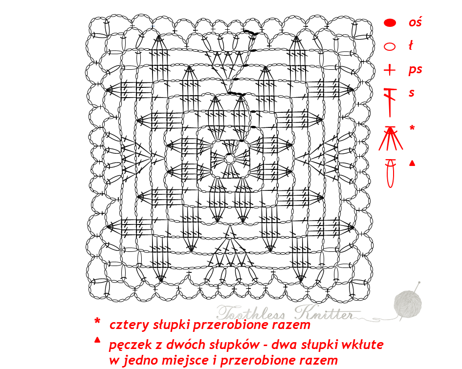 Granny Squares and Motifs: Pattern 1 / Granny Squares i Motywy: Wzór 1