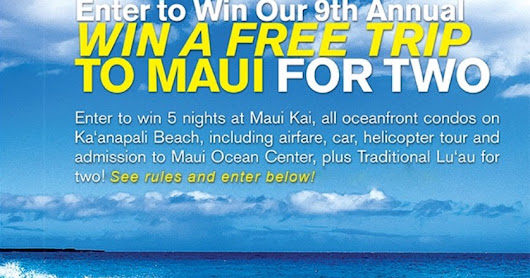 Perfect Days Hawaii - Trip to Maui Sweepstakes