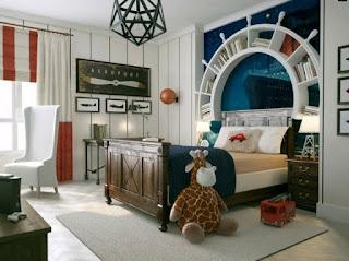 dormitorio marinero para niño