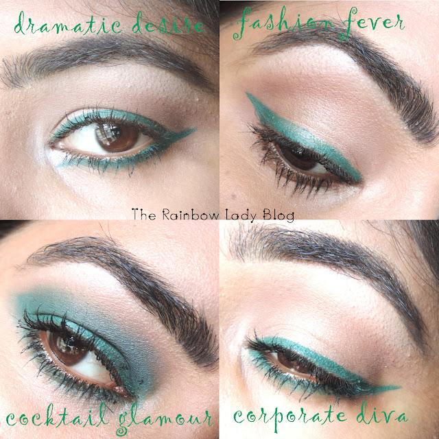 VLCC enchanting eyes green kohl eyelooks