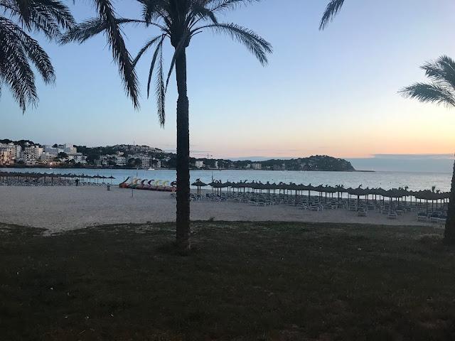 sunset on the beach in Majorca