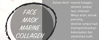 Bahan Aktif Face Mask Marine Collagen