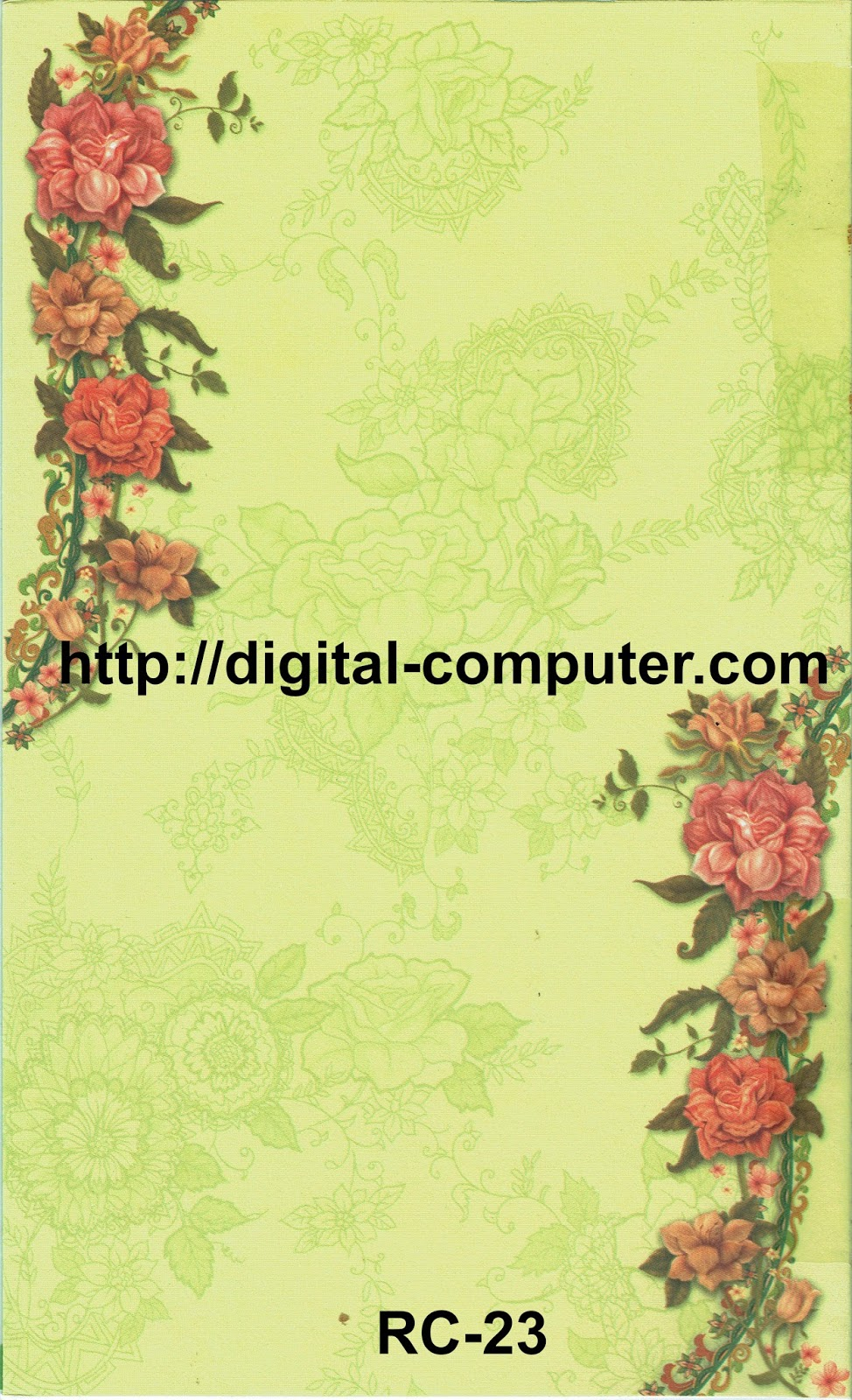 Undangan Softcover Rain Card RC-23