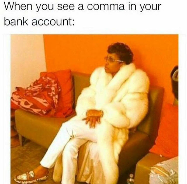 Comma on your bank account
