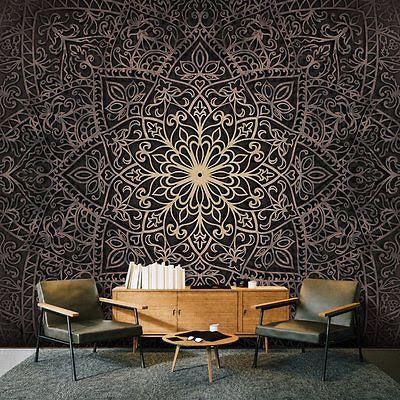 3D wall art with 3D effect wallpaper