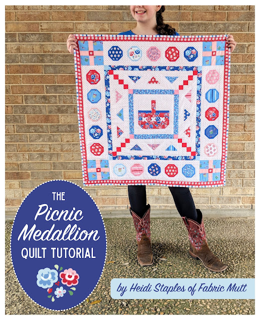 Riley Blake Designs Shortcake Picnic Medallion Quilt by Heidi Staples of Fabric Mutt