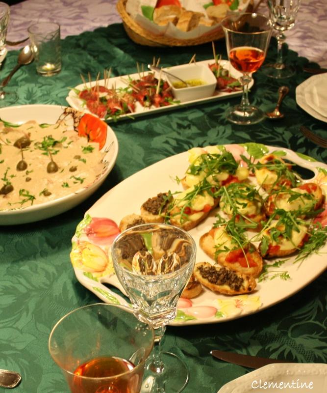 Le blog de clementine repas italien pour des amies de la for Repas pour des amis