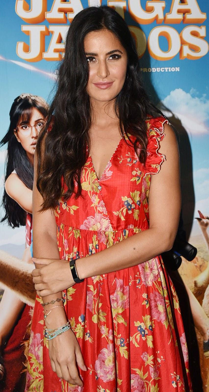 Ranbir and Katrina Kaif at Trailer Launch of Jagga Jasoos at YRF Preview Theatre Mumbai