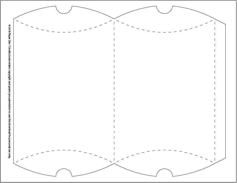 Pillow Box Template | Welcome To Paper Zen Cecelia Louie Free Pillow Box Template For