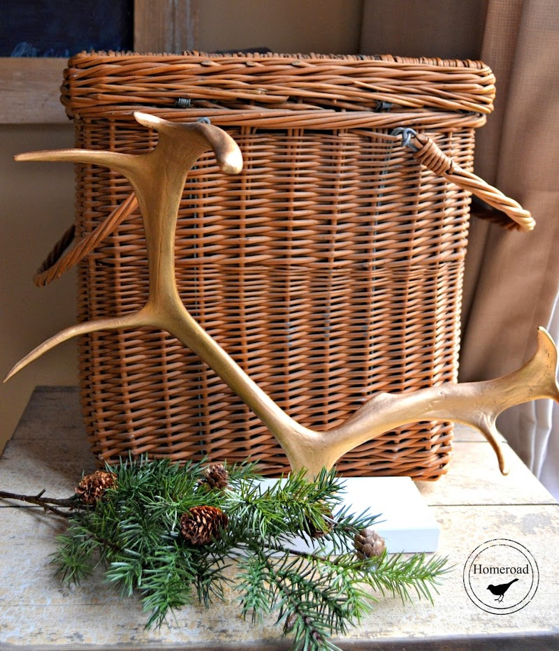 A Golden Antler Ornament Display