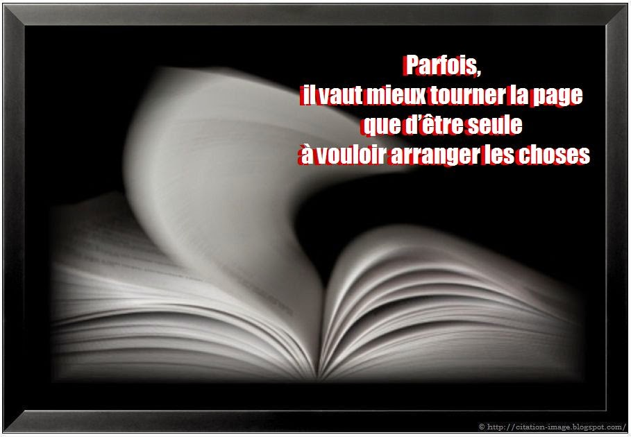 Une belle citation tourner la page
