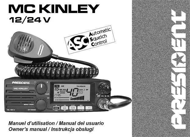 Delboy's Radio Blog: President McKinley EU Manual