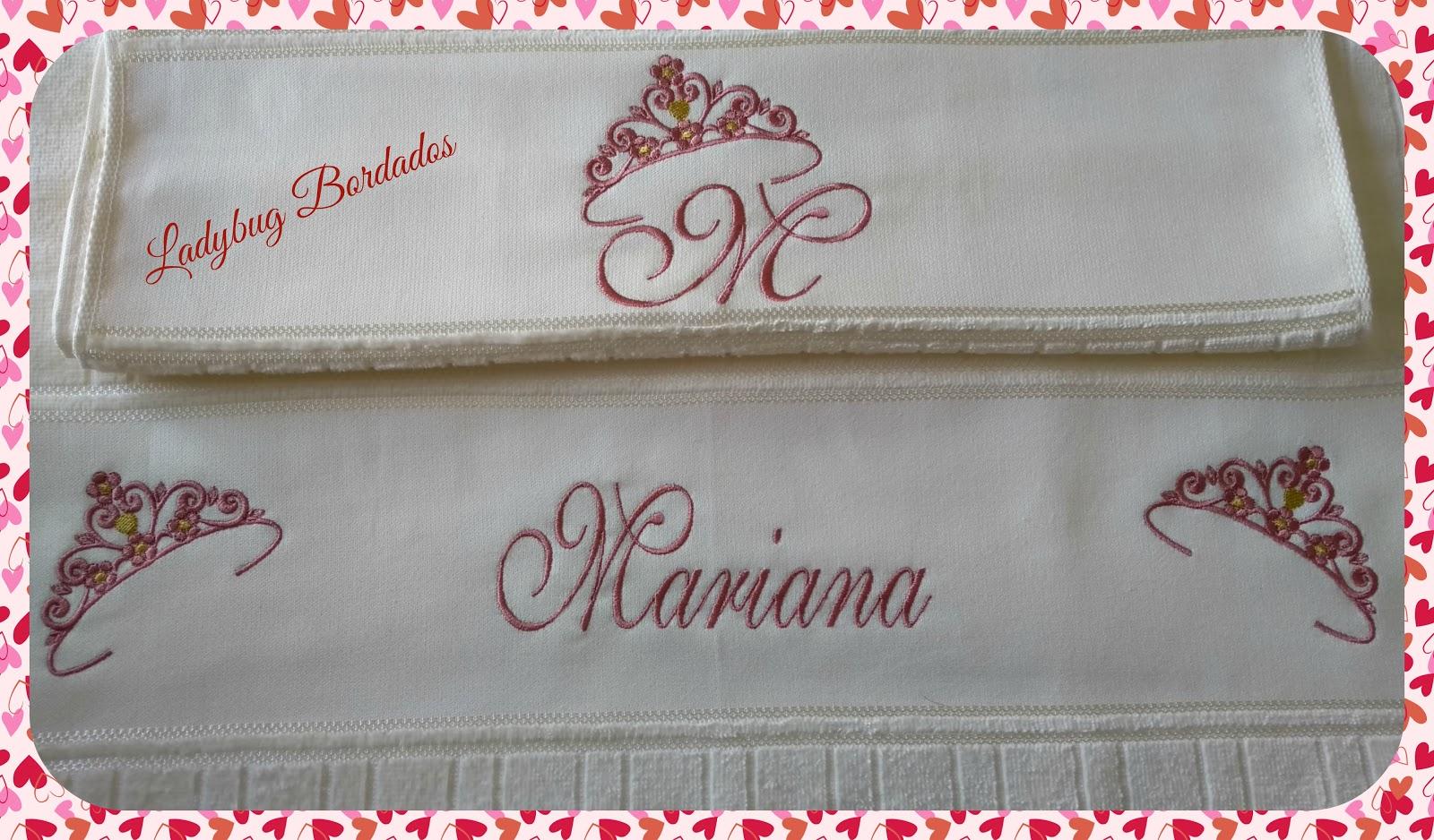 Toalha personalizada - Mariana (banho e rosto) b1629bf5b07