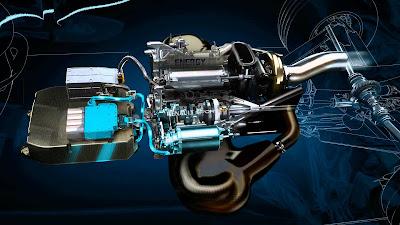Sistema propulsivo termico ed elettrico con gruppo batterie e sistemi di gestione MGUs