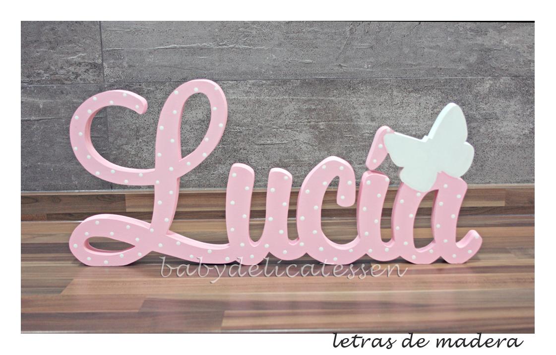 Baby delicatessen letras de madera letras de madera para luc a - Letras de madera para decorar ...