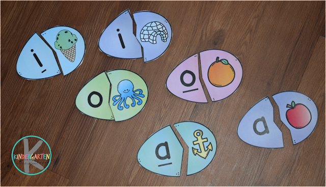 long vowels and short vowels Easter phonics activity