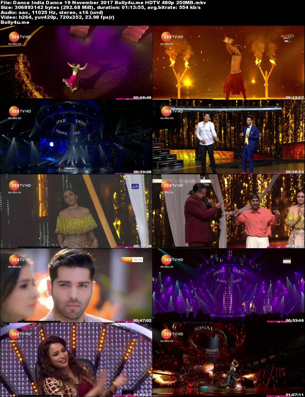 Dance India Dance HDTV 480p 250MB 19 November 2017 Download