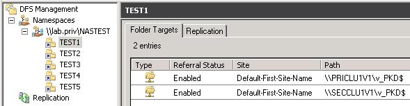 Cosonok's IT Blog: Using Active/Active DFS Namespace as a Site