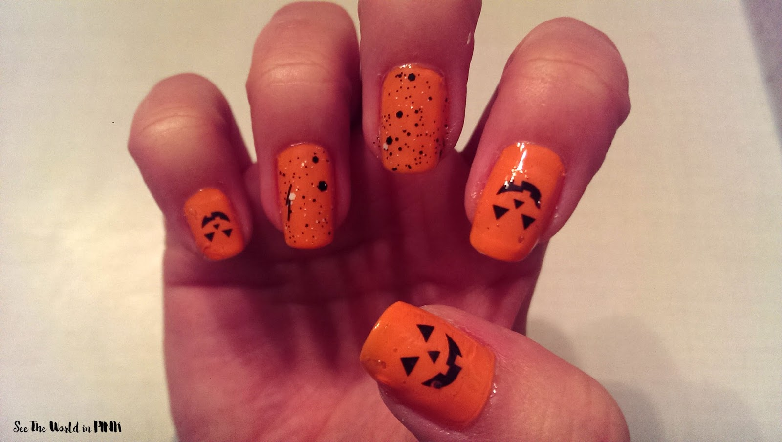 Manicure Monday - Jack-O-Lantern Nail feat. Nailed Kit decals | See ...