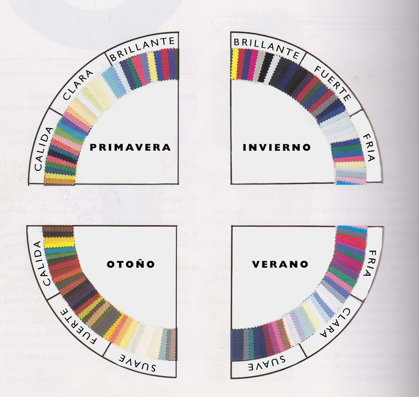 paleta de colores por estaciones