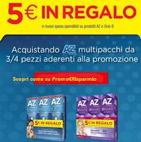 Logo AZ ti regala 5€ in buoni sconto come premio sicuro