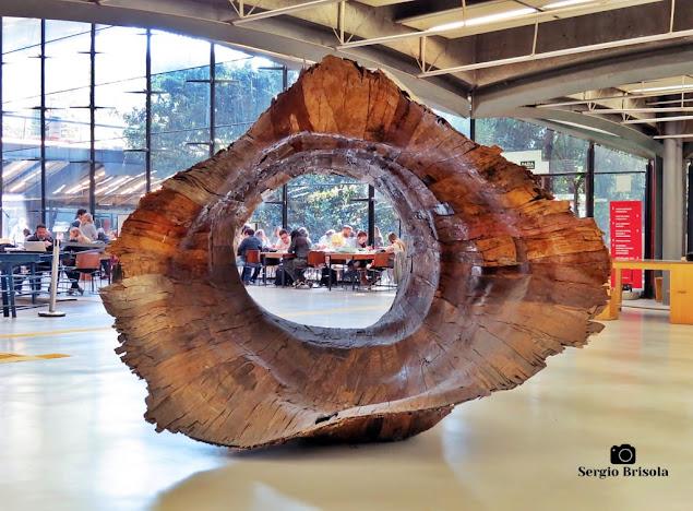 Fotocomposição com a Escultura Tronco - Centro Cultural São Paulo - Paraíso - São Paulo