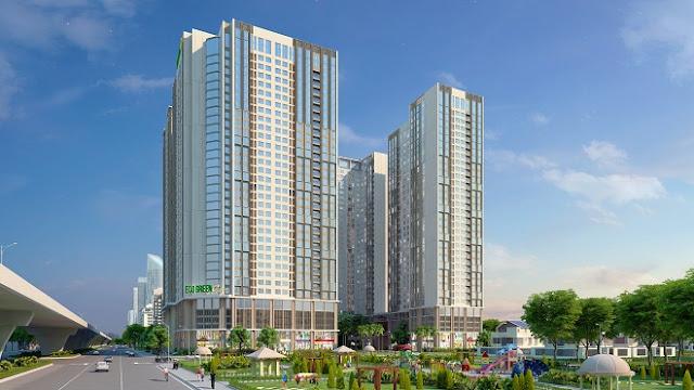 Phối cảnh chung cư cao cấp Eco green city