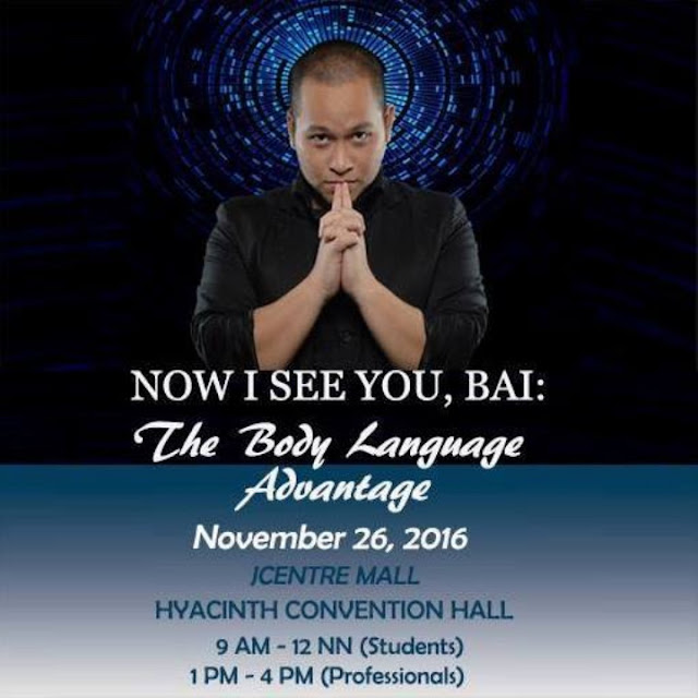 Join The Body Language Workshop with The Mental Assassin in Cebu