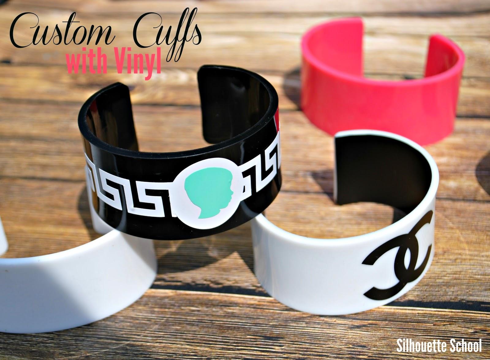Custom, cuffs, vinyl, Silhouette tutorial, Silhouette Studio