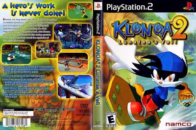 Jogo Klonoa 2 - Lunatea's Veil PS2 DVD Capa