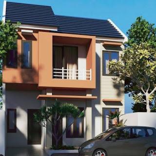 Rumah minimalis 2 lantai tipe 45 tampak depan
