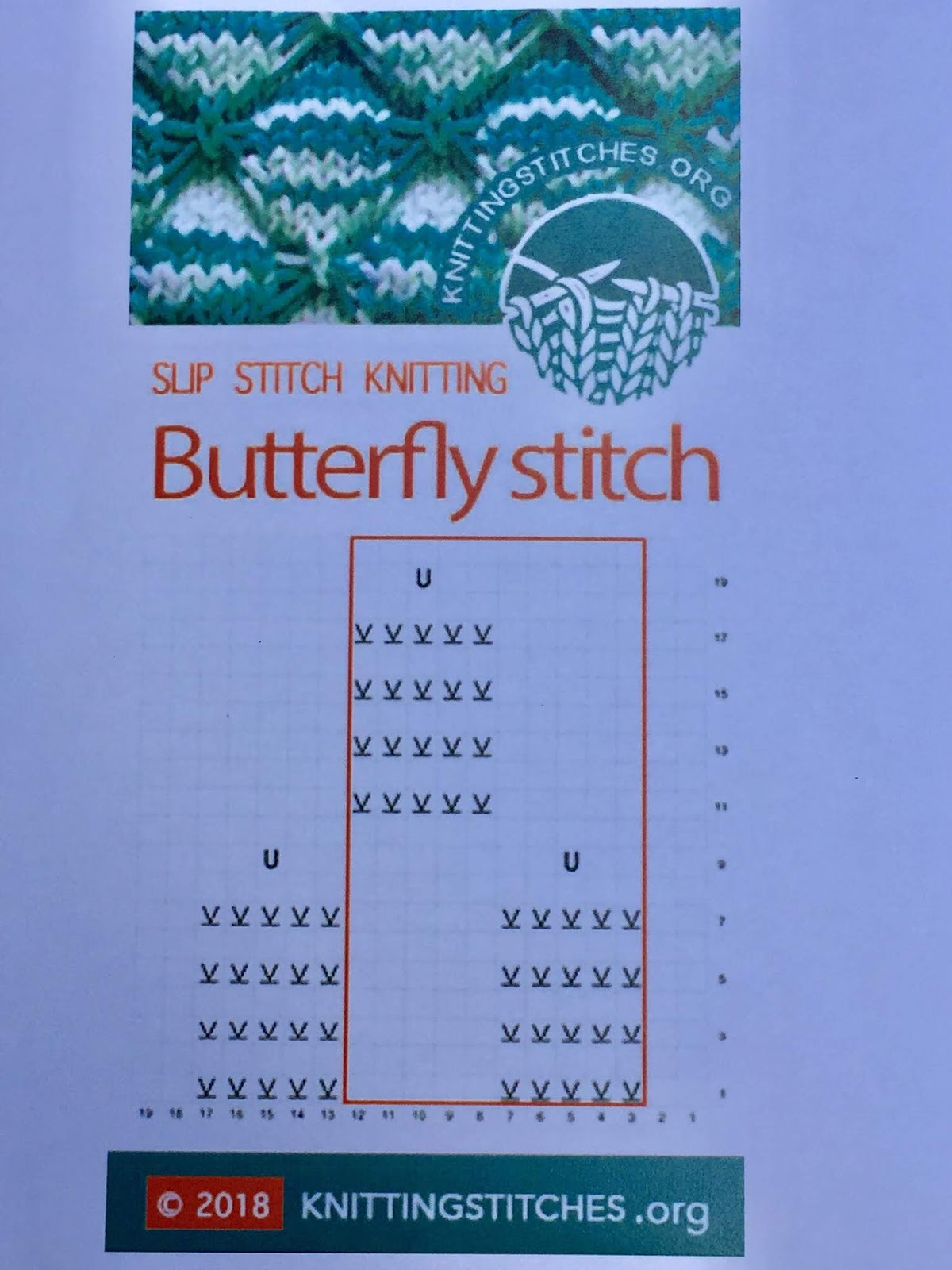 Knitting Stitches 2018 - Butterfly pattern