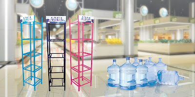 rak galon supermarket,rak galon toko,rak galon minimarket,rak display galon,rak gudang galon,rak besi galon,indomaret,alfamrt,giant,carrefour,lotte mart