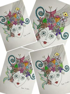 lola mento ilustraciones, #LolaMento, regalos creativos, cuadros originales, LolaMento Primavera