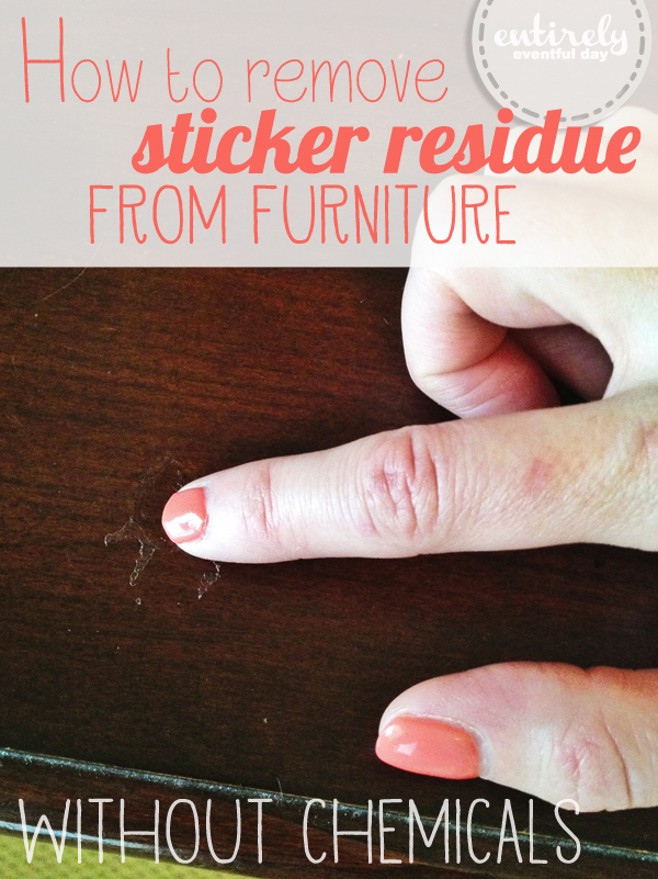 how to remove sticker residue a little tipsy. Black Bedroom Furniture Sets. Home Design Ideas