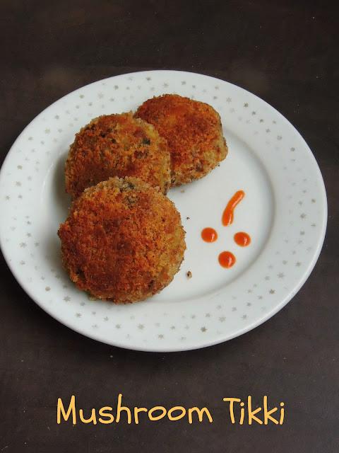 Mushroom & Potato Cutlet, Mushroom Tikki