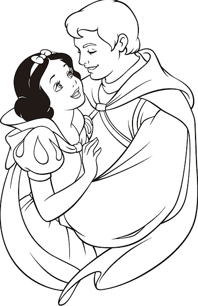 Disney Princess Colouring Pages  Diy Colouring Book Snow White Coloring  Sheet