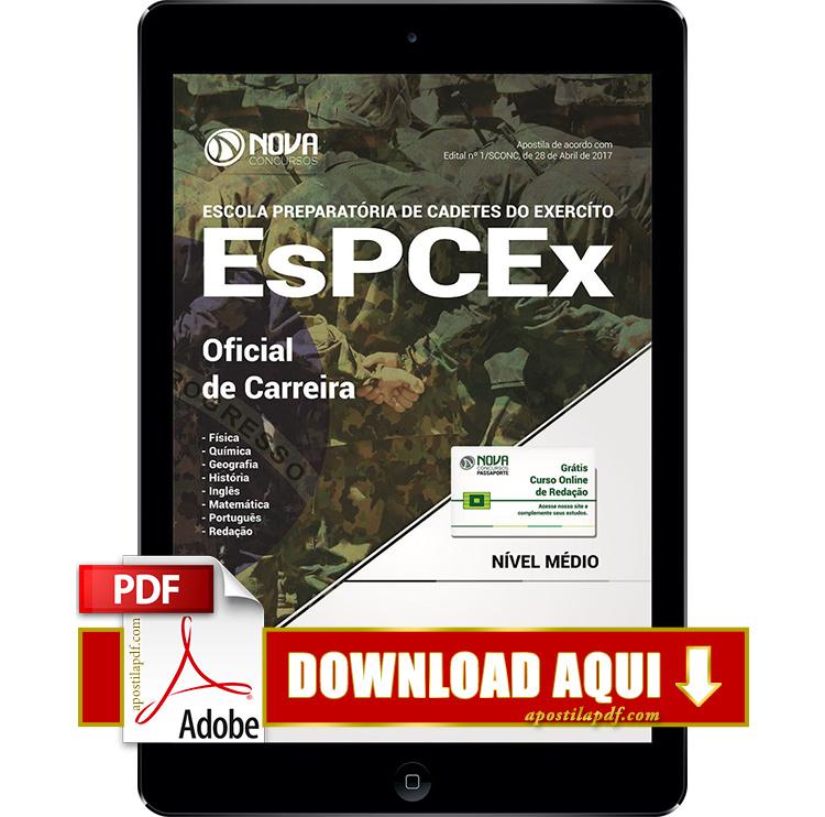 Apostila EsPCEx 2017 PDF Download Oficial de Carreira
