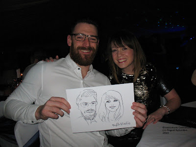 UK Caricaturist & Silhouette Cutter Ingrid Sylvestre - Wedding Caricatures, Events, Parties, Conferences, Ceremonies, Birthdays, Engagements, Wedding Entertainment North Yorkshire, York, Harrogate, Knaresborough, Ripon, Easingwold, Northallerton, Thirsk, Helmsley, Pickering, Darlington, Teesside, Cleveland, Durham, Newcastle, Northumberland, North Yorkshire Wedding Caricatures at Events