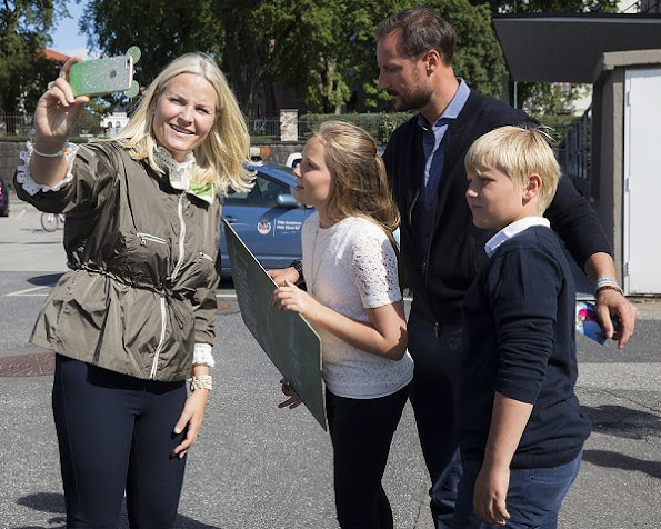 Prince Haakon, Princess Mette Marit, Princess Ingrid Alexandra and Prince Sverre Magnus visited Passion for Ocean Festival in Oslo