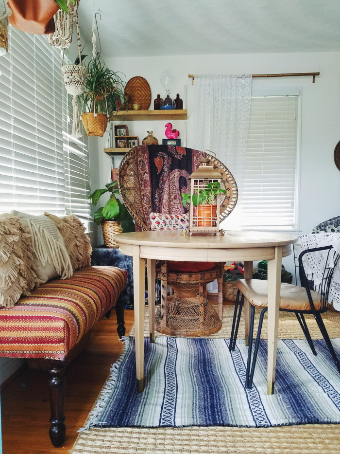 Impromptu Eclectic Bohemian Dining Space - The Boho Abode