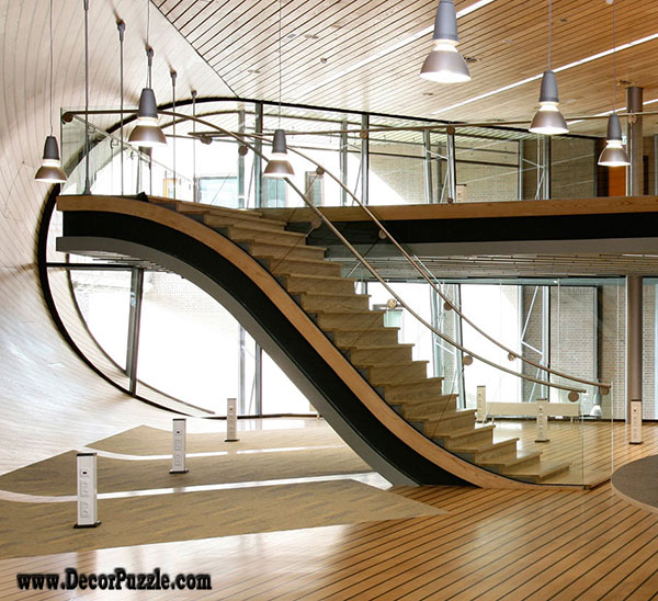 Latest modern stairs designs ideas catalog 2017 Inside staircase in houses