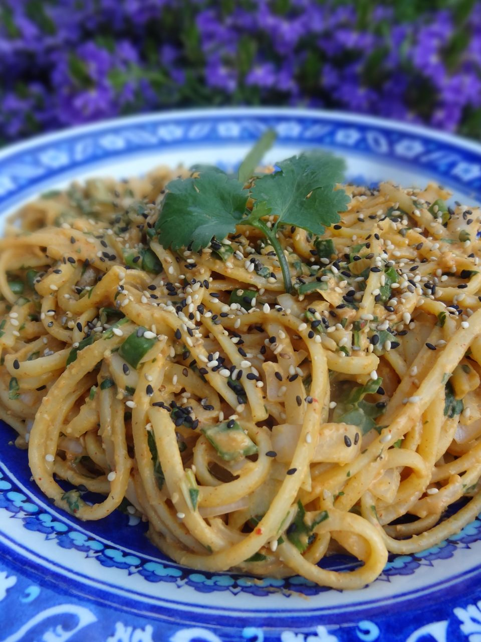 scrumpdillyicious: cold noodles with spicy red curry