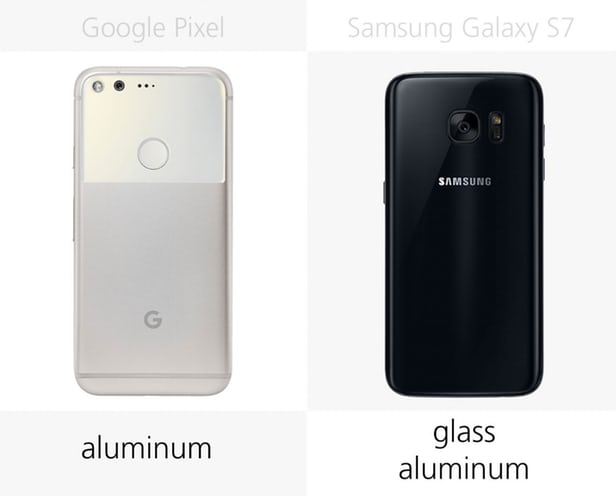 Samsung Galaxy S7 vs Google Pixel Build