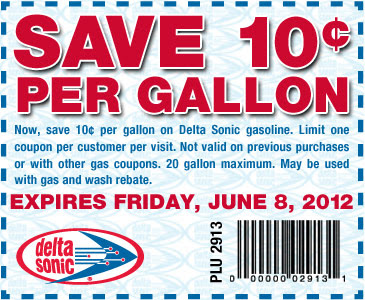 photo relating to Sonic Printable Coupon titled Severe Couponing Mommy: Delta Sonic $.10/gallon Fuel