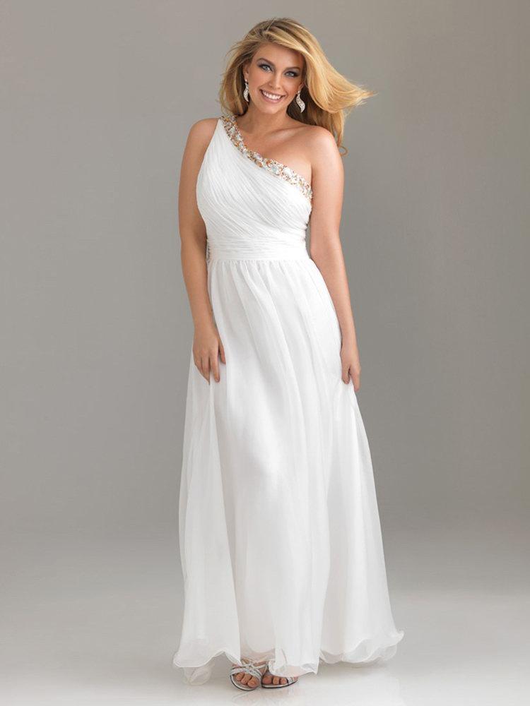 Beautiful Plus Size One Shoulder Prom Dresses Dresses
